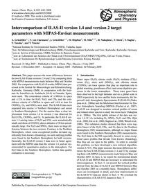 Intercomparison of Ilas-ii Version 1.4 a... by Griesfeller, A.