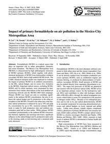 Impact of Primary Formaldehyde on Air Po... by Lei, W.