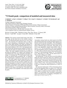 <Sup>36</Sup>Cl Bomb Peak: Comparison of... by Heikkilä, U.
