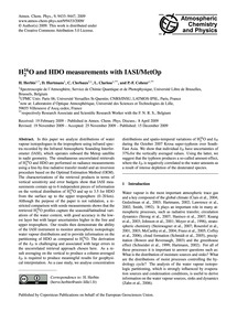 H<Sub>2</Sub><Sup>16</Sup>O and Hdo Meas... by Herbin, H.