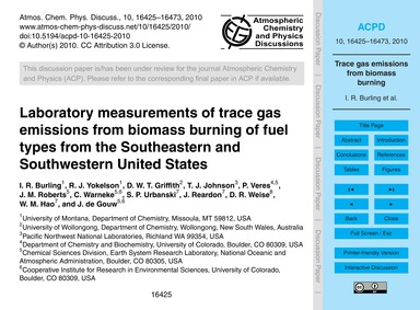 Laboratory Measurements of Trace Gas Emi... by Burling, I. R.
