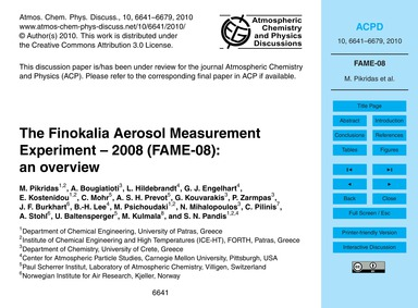 The Finokalia Aerosol Measurement Experi... by Pikridas, M.