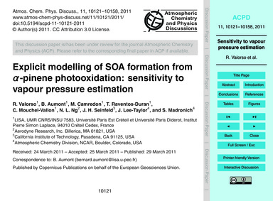 Explicit Modelling of Soa Formation from... by Valorso, R.