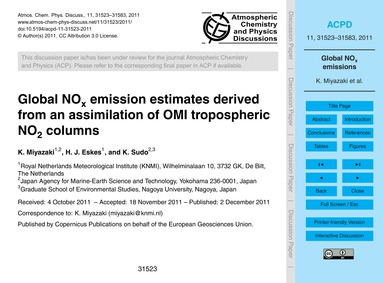 Global NoX Emission Estimates Derived fr... by Miyazaki, K.