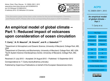 An Empirical Model of Global Climate – P... by Canty, T.