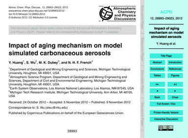 Impact of Aging Mechanism on Model Simul... by Huang, Y.
