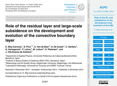 Role of the Residual Layer and Large-sca... by Blay-carreras, E.
