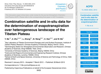 Combination Satellite and In-situ Data f... by Ma, Y.