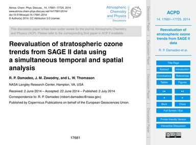 Reevaluation of Stratospheric Ozone Tren... by Damadeo, R. P.