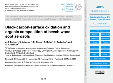 Black-carbon-surface Oxidation and Organ... by Corbin, J. C.