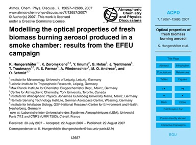 Modelling the Optical Properties of Fres... by Hungershöfer, K.
