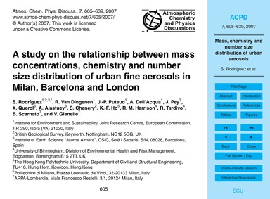 A Study on the Relationship Between Mass... by Rodríguez, S.