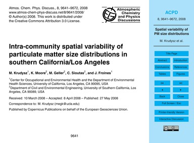 Intra-community Spatial Variability of P... by Krudysz, M.