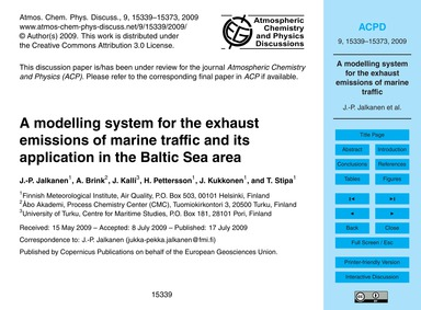 A Modelling System for the Exhaust Emiss... by Jalkanen, J.-p.