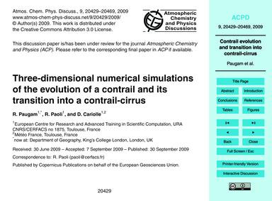 Three-dimensional Numerical Simulations ... by Paugam, R.