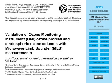 Validation of Ozone Monitoring Instrumen... by Liu, X.
