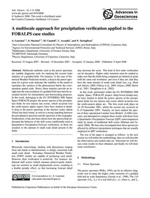 A Multiscale Approach for Precipitation ... by Lanciani, A.