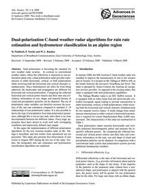 Dual-polarization C-band Weather Radar A... by Paulitsch, H.