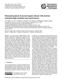 Elemental Analysis of Aerosol Organic Ni... by Rollins, A. W.
