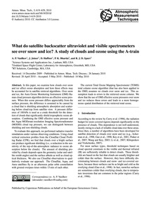 What Do Satellite Backscatter Ultraviole... by Vasilkov, A. P.