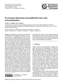 On Transport Phenomena and Equilibration... by Saleh, R.