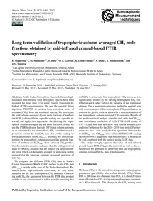 Long-term Validation of Tropospheric Col... by SepÚLveda, E.