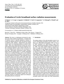 Evaluation of Arctic Broadband Surface R... by Matsui, N.