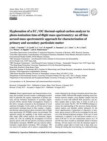 Hyphenation of a Ec / Oc Thermal–optical... by Diab, J.