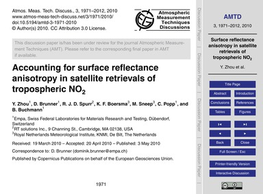 Accounting for Surface Reflectance Aniso... by Zhou, Y.