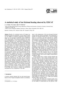 A Statistical Study of Ion Frictional He... by Davies, J. A.