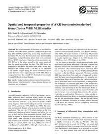 Spatial and Temporal Properties of Akr B... by Mutel, R. L.