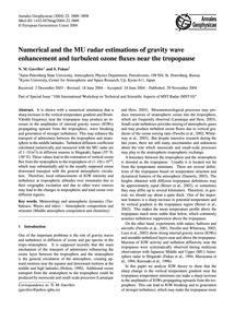 Numerical and the Mu Radar Estimations o... by Gavrilov, N. M.