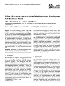 Urban Effect on the Characteristics of C... by Pinto, I. R. C. A.