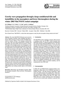 Gravity Wave Propagation Through a Large... by Williams, B. P.