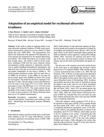Adaptation of an Empirical Model for Ery... by Foyo-moreno, I.