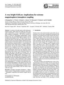 A Very Bright Sar Arc: Implications for ... by Baumgardner, J.