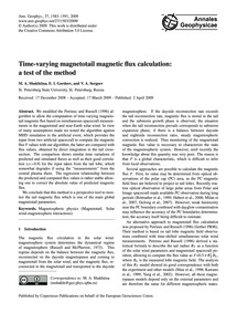 Time-varying Magnetotail Magnetic Flux C... by Shukhtina, M. A.
