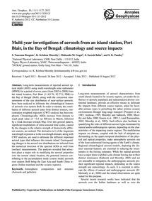 Multi-year Investigations of Aerosols fr... by Naseema Beegum, S.