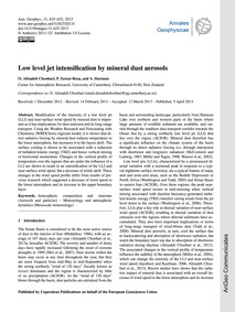 Low Level Jet Intensification by Mineral... by Alizadeh Choobari, O.
