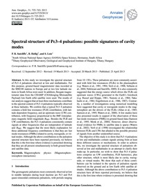 Spectral Structure of Pc3–4 Pulsations: ... by Sutcliffe, P. R.