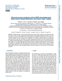 Diurnal Course Analysis of the Wrf-simul... by Breuer, H.