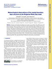 Meteorological Observations of the Coast... by Barantiev, D.