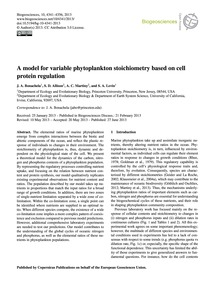 A Model for Variable Phytoplankton Stoic... by Bonachela, J. A.