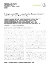 Arctic Gypsum Endoliths: a Biogeochemica... by Ziolkowski, L. A.