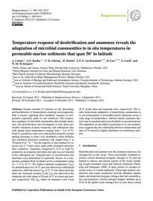 Temperature Response of Denitrification ... by Canion, A.