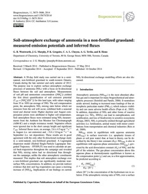 Soil–atmosphere Exchange of Ammonia in a... by Wentworth, G. R.