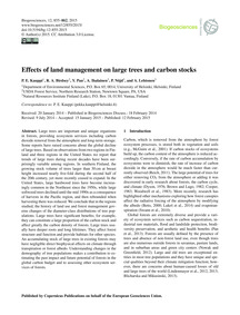 Effects of Land Management on Large Tree... by Kauppi, P. E.