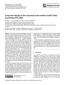 Long Term Changes in the Ecosystem in th... by Ning, X.