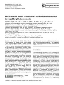 McGill Wetland Model: Evaluation of a Pe... by St-hilaire, F.