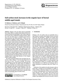Soil Carbon Stock Increases in the Organ... by Häkkinen, M.